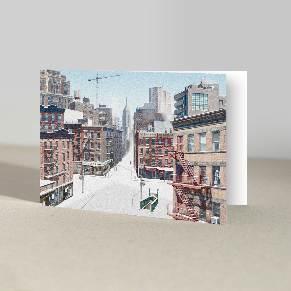 NYC Snowscape | Christmas Cards | Window.