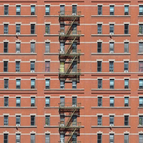 NYC Red Brick Paper x 4 sheets